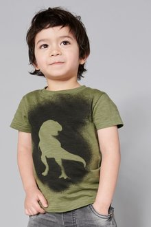 Next Sprayed Dino Short Sleeve T-Shirt (3mths-6yrs)