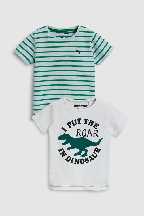 Next Short Sleeve Dino T-Shirts Two Pack (3mths-6yrs)
