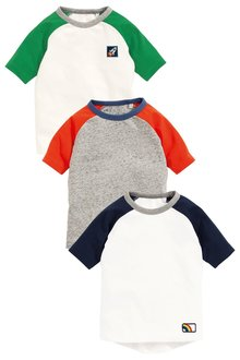 Next Raglan T-Shirts Three Pack (3mths-6yrs)