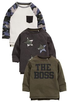 Next Star/Camo T-Shirts Three Pack (3mths-6yrs)
