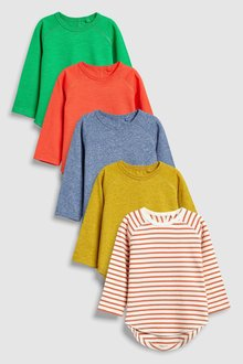 Next Multi Long Sleeve T-Shirts Five Pack (3mths-6yrs)