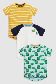 Next Dino T-Shirts Three Pack (3mths-6yrs)