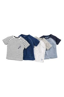 Next Raglan T-Shirts Four Pack (3mths-6yrs)