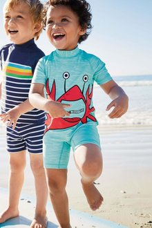 Next Crab Applique Sunsafe Suit (3mths-6yrs)