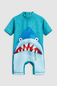 Next Shark Applique Sunsafe Suit (3mths-6yrs)