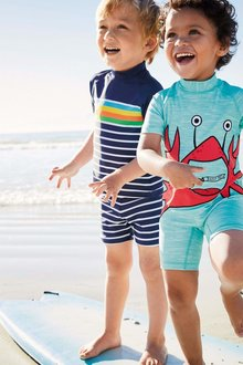 Next Stripe Sunsafe Suit (3mths-6yrs)