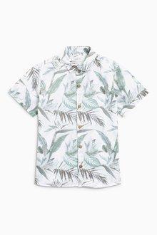 Next Short Sleeve Linen Rich Shirt (3mths-6yrs)