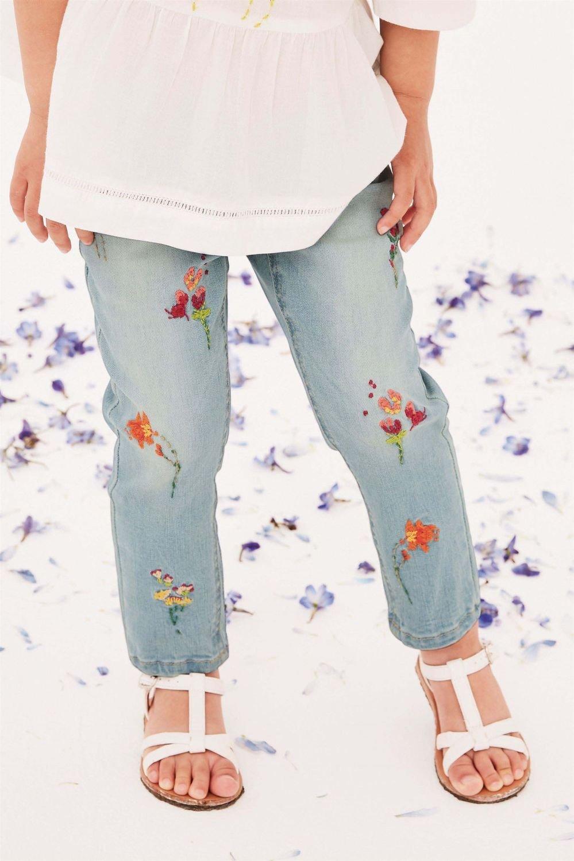 Next Floral Embroidered Jeans (3mths-6yrs) Online | Shop EziBuy