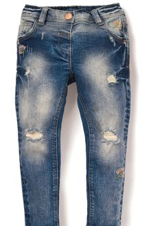 Next Floral Distressed Jeans (3mths-6yrs)