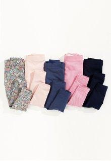 Next Pink/Navy Leggings Five Pack (3mths-6yrs)