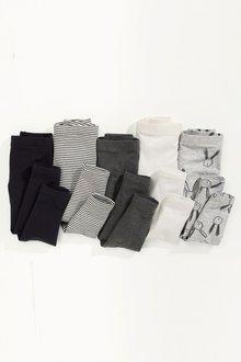 Next Monochrome Leggings Five Pack (3mths-6yrs)