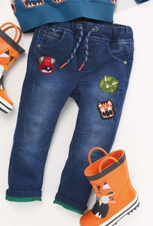 Next Animal Badge Jeans (3mths-6yrs)
