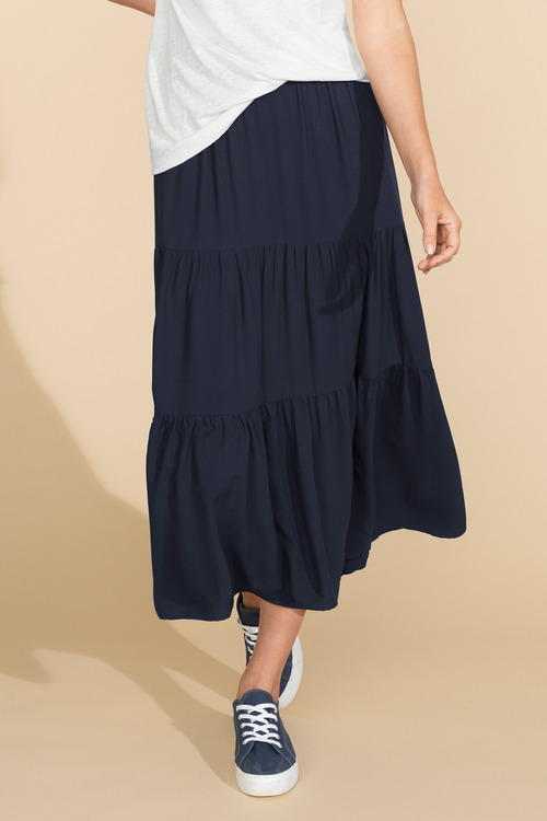 Capture Tiered Maxi Skirt