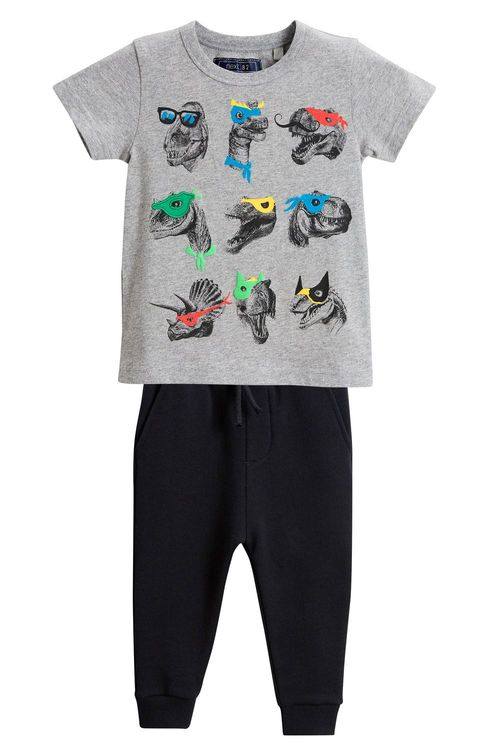 Next Dino T-Shirt And Joggers Set (3mths-6yrs)