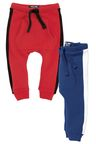 Next Red/Blue Side Stripe Joggers Two Pack (3mths-6yrs)