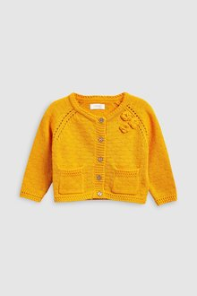 Next Orange Corsage Cardigan (3mths-6yrs)