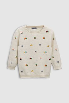 Next Embroidered Car Jumper (3mths-6yrs)