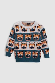 Next Tiger Face All Over Print Jumper (3mths-6yrs)