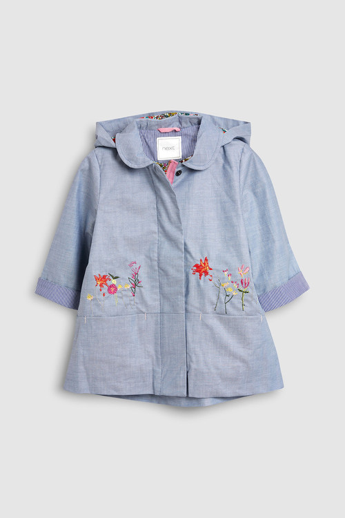 Next Floral Embroidered Mac (3mths-6yrs)
