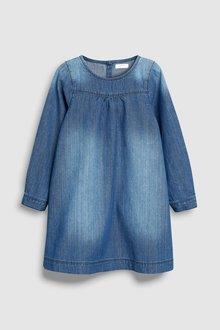 Next Roll Sleeve Denim Dress (3mths-6yrs)