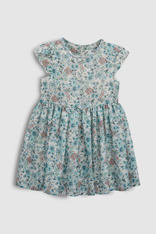 Next Ditsy Short Sleeve Party Dress (3mths-6yrs)