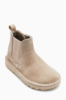 Next Water Repellent Suede Chelsea Boots (Younger)
