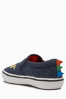 Next Dino Embroidered Slip-Ons (Younger)