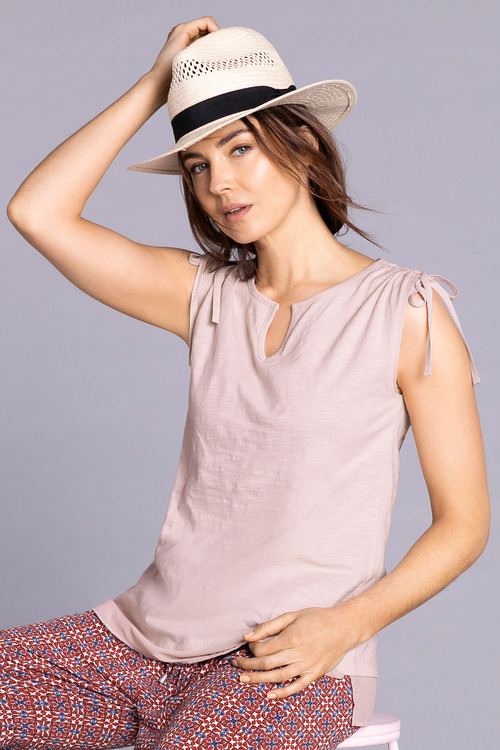 Capture Slub Tie Shoulder Tank