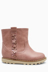Next Flower Embellished Ankle Boots (Younger)