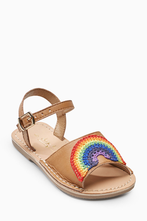 Next Rainbow Peep Toe Sandals (Younger)