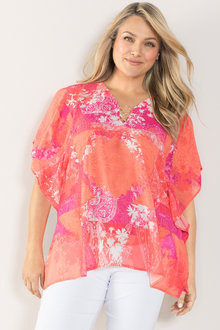 Plus Size - Sara Ring Detail Kaftan