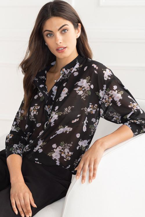 Grace Hill Chiffon Print Shirt