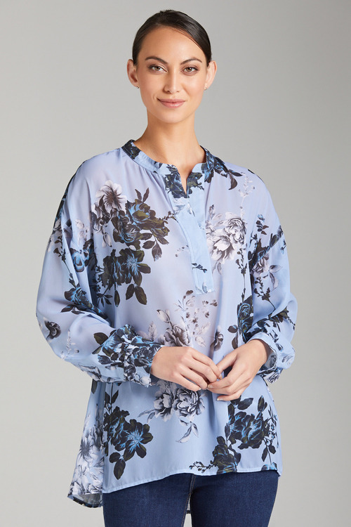 Grace Hill Chiffon Print Shirt