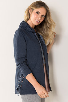Plus Size - Sara Zip Through Hoodie