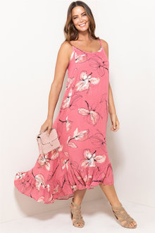 Plus Size - Sara Hi-Low Maxi Dress - 213304