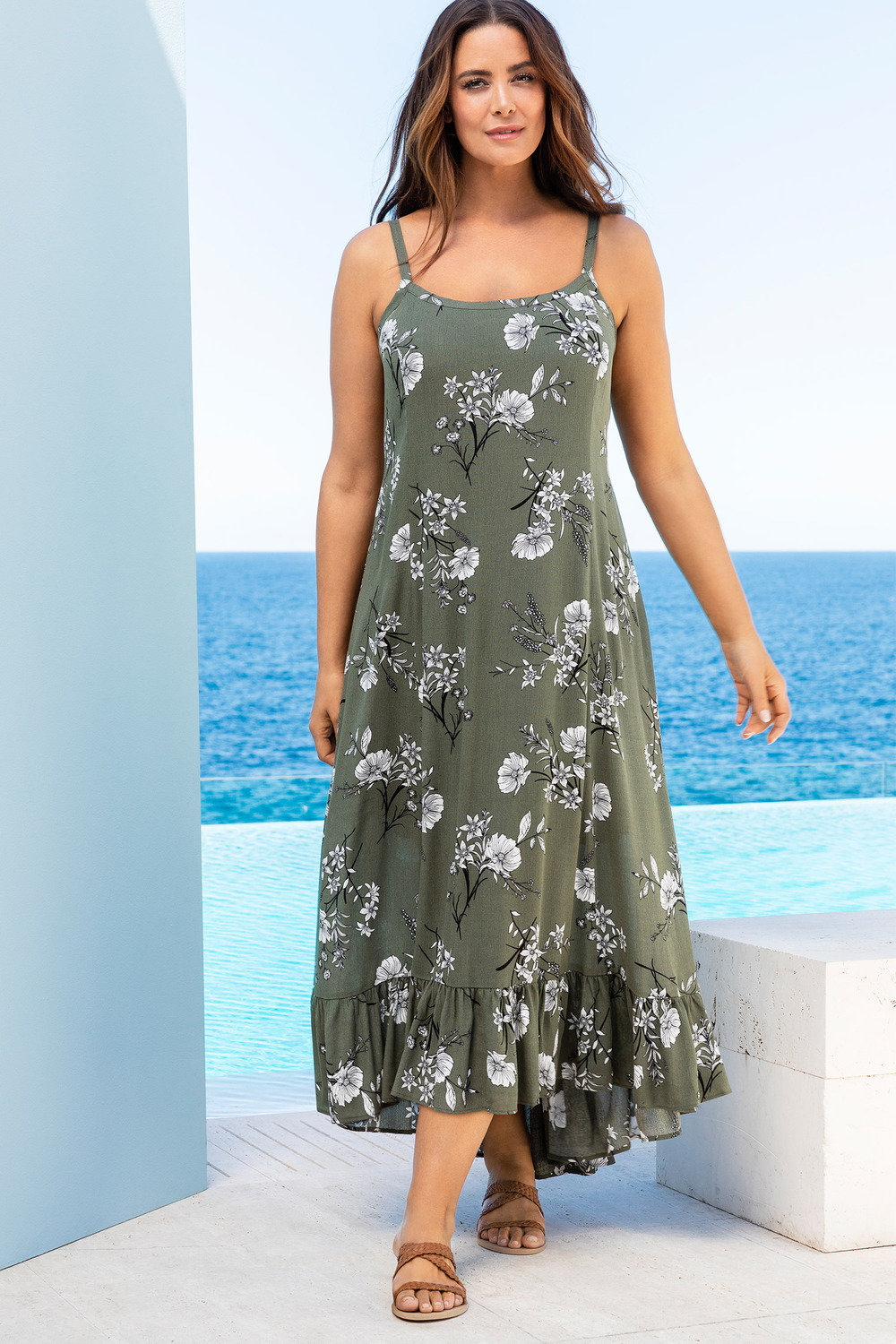 6dd267c0c48 Plus Size - Sara Hi-Low Maxi Dress