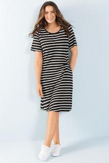 Plus Size - Sara Knot Front Dress