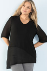 Plus Size - Sara Asymmetric Hem Tunic