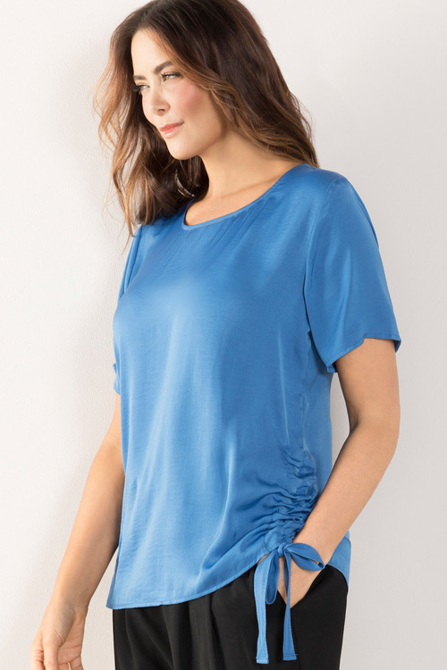 Plus Size - Sara Rouched Side Top