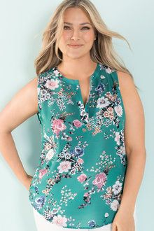 Plus Size - Sara Sleeveless Top