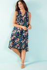 Plus Size - Sara Sleeveless Hi-Low Dress