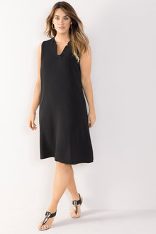 Plus Size - Sara V Neck Shift Dress