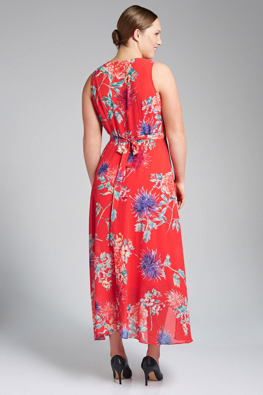 f08d492b4625 Sara Sleeveless Wrap Dress Online | Shop EziBuy