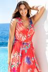 Plus Size - Sara Sleeveless Wrap Dress