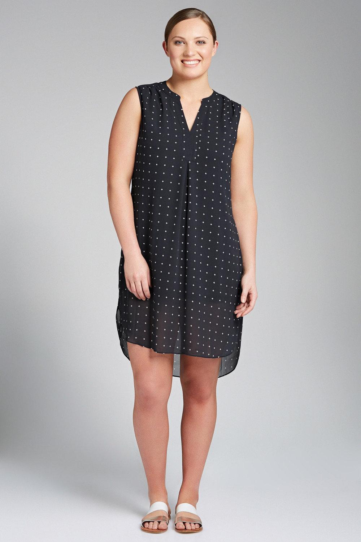 8c7e0f8f54 Plus Size - Sara V Neck Placket Dress