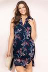 Plus Size - Sara V Neck Placket Dress