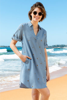 Emerge Lyocell Shirt Dress - 213336