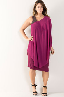 Plus Size - Sara One Shoulder Dress - 213361