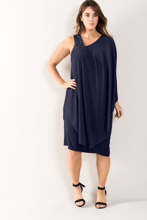Plus Size - Sara One Shoulder Dress