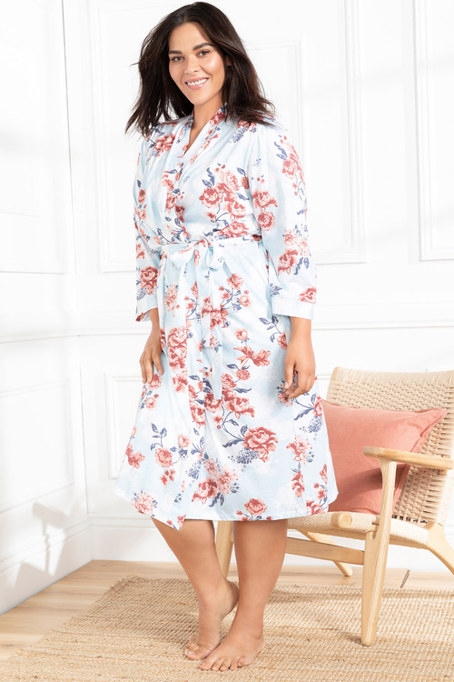 Plus Size - Sara Cotton Jersey Robe